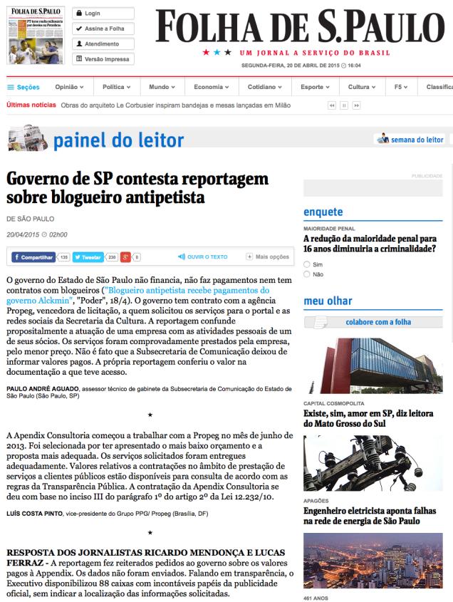 Governo_de_SP_contesta_reportagem_sobre_blogueiro_antipetista_-_20_04_2015_-_Painel_do_Leitor_-_Folha_de_S.Paulo_-_2015-04-20_16.05.46
