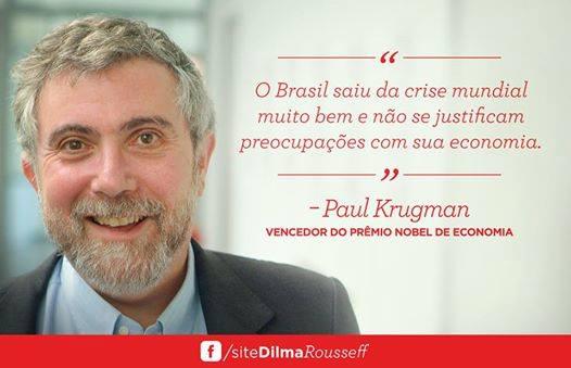 Paul Krugman na campanha Dilma 2014
