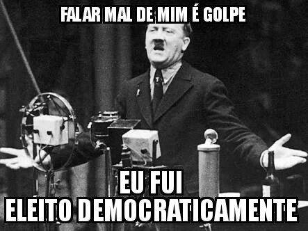 Dilma Ruinsseff foi eleita democraticamente? Sim, a despeito da campanha eleitoral calcada unicamente em mentiras, foi. Mas isso não tem nada a ver com o impeachment - até porque seria impossível pedir impeachment de quem NÃO foi eleito.