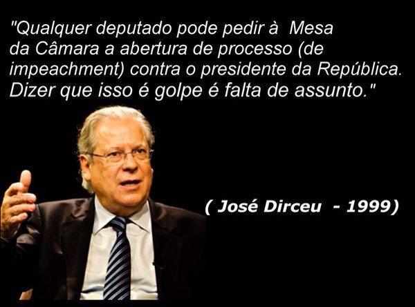 """Os mortadelas que estão dizendo agora que impeachment é golpe já perguntaram a opinião do """"guerreiro do povo brasileiro"""" que eles veneram?"""